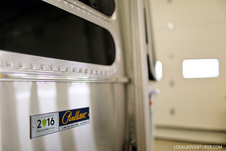 Airstream Pendleton at the Airstream Factory Tour - Did you know that the majority of an Airstream is handmade? See behind-the-scenes of how these American icons are made in Jackson Center Ohio // localadventurer.com