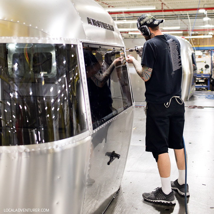 Airstream Factory Tour - Did you know that the majority of an Airstream is handmade? See behind-the-scenes of how these American icons are made in Jackson Center Ohio // localadventurer.com