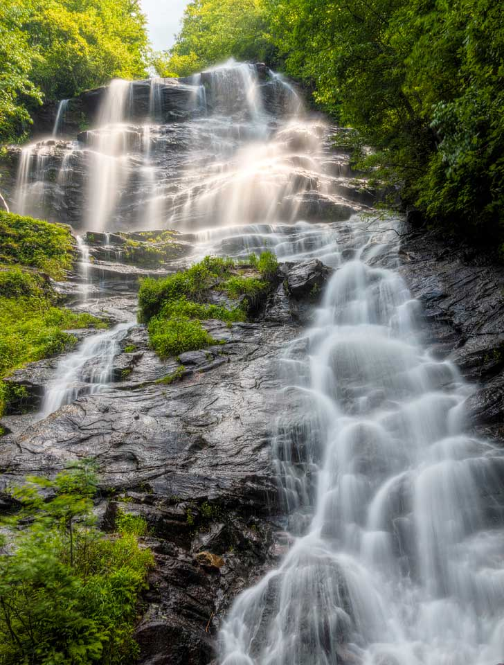 """Amicalola Falls State Park Dawsonville Georgia USA - name is derived from Cherokee meaning """"tumbling waters"""" // localadventurer.com"""