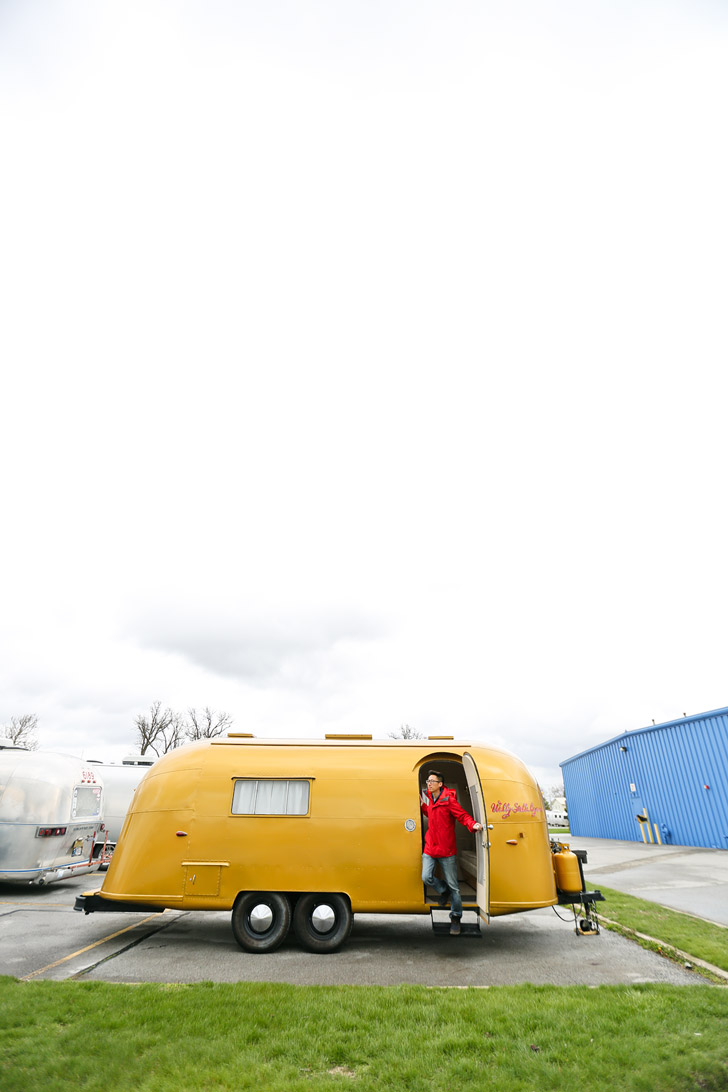 Exclusive Peek into Stella and Wally Byam's Famous Gold Vintage Airstream - the founder custom designed the trailer for his wife and took it on a caravan from Cape Town to Cairo // localadventurer.com