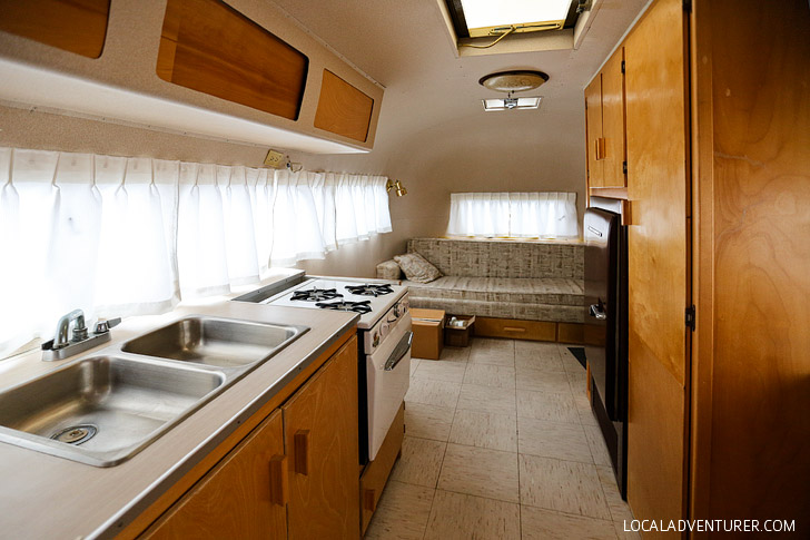 Exclusive Peek into Stella and Wally Byam's Famous Vintage Gold Airstream - the founder custom designed the trailer for his wife and took it on a caravan from Cape Town to Cairo // localadventurer.com