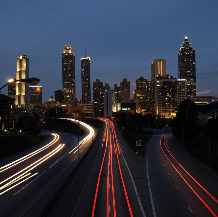 Jackson Street Bridge is one of the most popular spots to see and photograph the Atlanta skyline // localadventurer.com