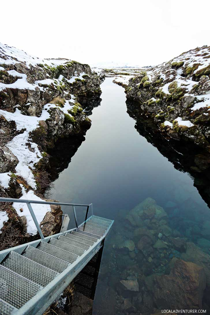 Silfra Snorkeling in Thingvellir National Park Iceland (Iceland Winter Road Trip - Best Stops and Places to Avoid) // localadventurer.com