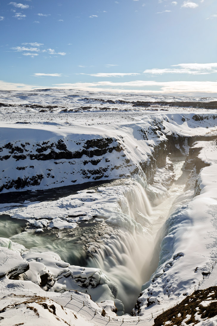 Gullfoss Waterfall - the most popular waterfall and one of the most popular attractions in Iceland // localadventurer.com
