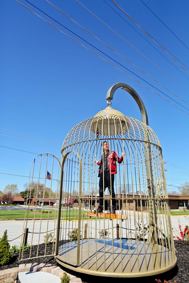 Giant Birdcage in Casey Illinois #BigThingsInASmallTown // localadventurer.com