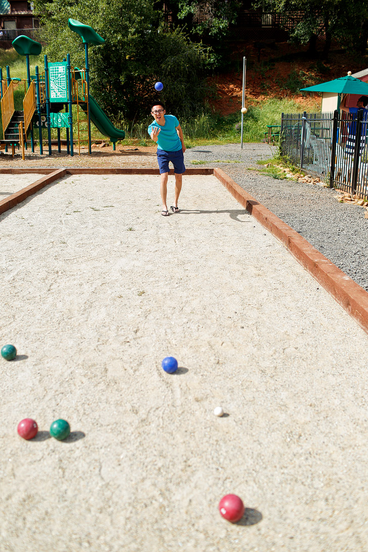 Bocce Ball at Yosemite Pines RV Resort and Family Lodging - Where to Stay Near Yosemite National Park // localadventurer.com