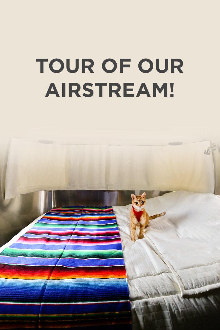 Tour of our Airstream International Signature 23FB - Here's our RV Review // localadventurer.com