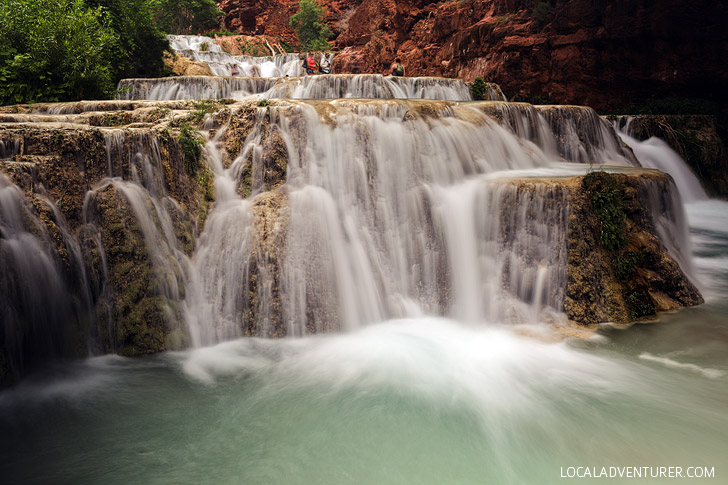 Beaver Falls - The Last of the Waterfalls in Havasu Canyon. It is a 3.5 mile hike from the Havasupai Campgrounds // localadventurer.com