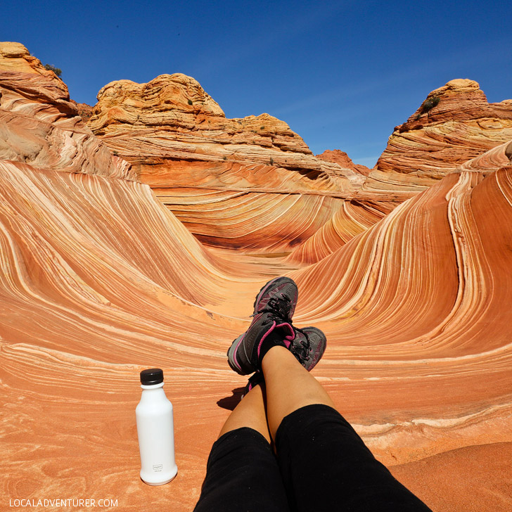 Hiking the Wave, Coyote Buttes North, Vermilion Cliffs National Monument Arizona // localadventurer.com