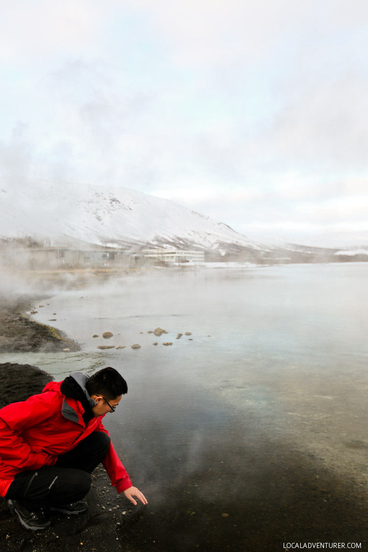 Hot Springs Lake in Iceland along the Golden Circle Route // localadventurer.com
