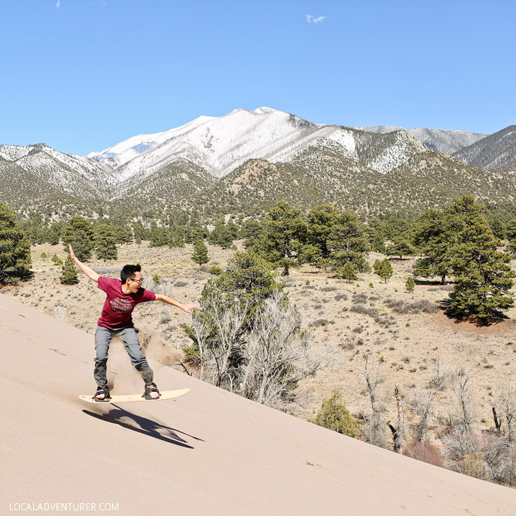 Great Sand Dunes National Park Sandboarding Colorado USA // localadventurer.com
