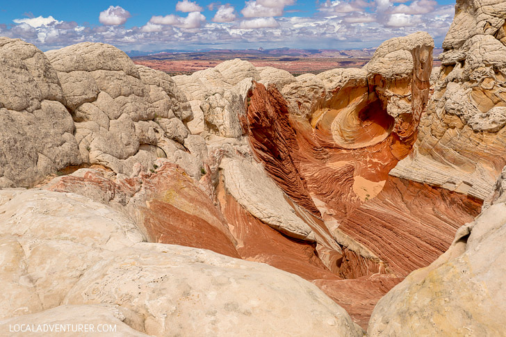 White Pocket Arizona - Sandstone Formations in Vermilion Cliffs National Monument near the border of Utah and Arizona // localadventurer.com