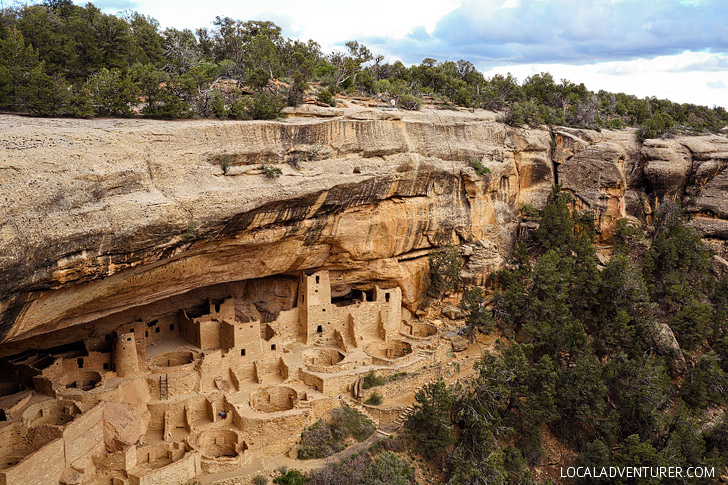 Cliff Palace Mesa Verde National Park Colorado - the largest cliff dwelling in North America. It was built by Ancestral Puebloans. // localadventurer.com
