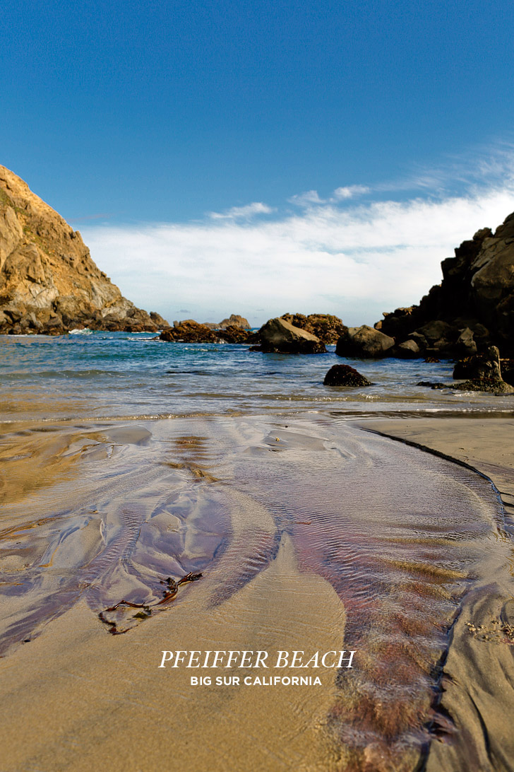 Pfeiffer Beach in Big Sur California is famously known for its purple sand // localadventurer.com