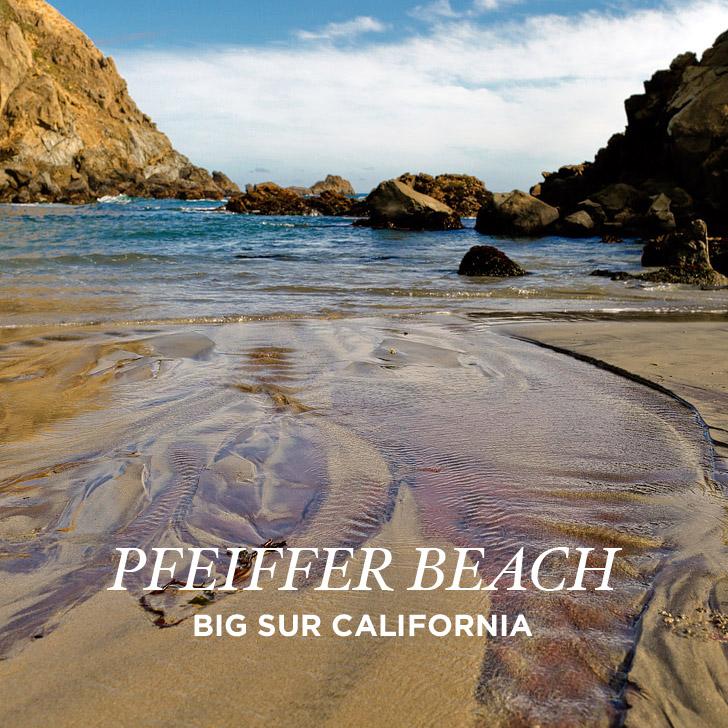 Pfeiffer Beach Sur Famous Purple Sand