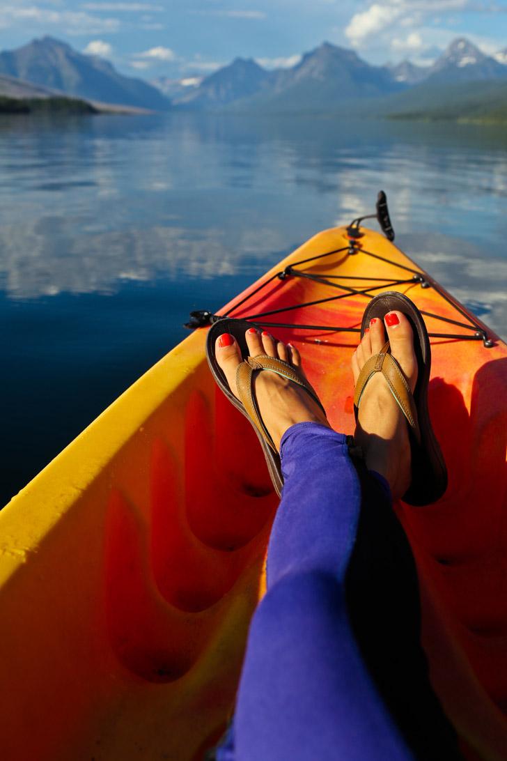 Kayaking Lake McDonald Montana (+ 9 Incredible Things to Do in Glacier National Park) // localadventurer.com