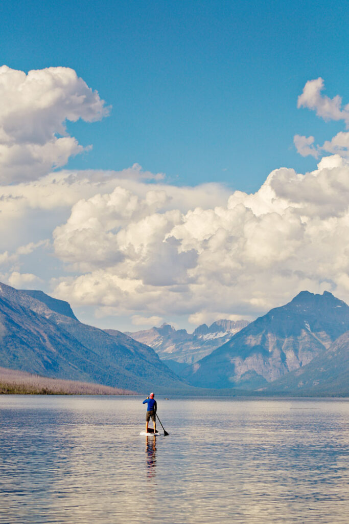 SUP Lake McDonald + 9 Incredible Things to Do in Glacier National Park Montana