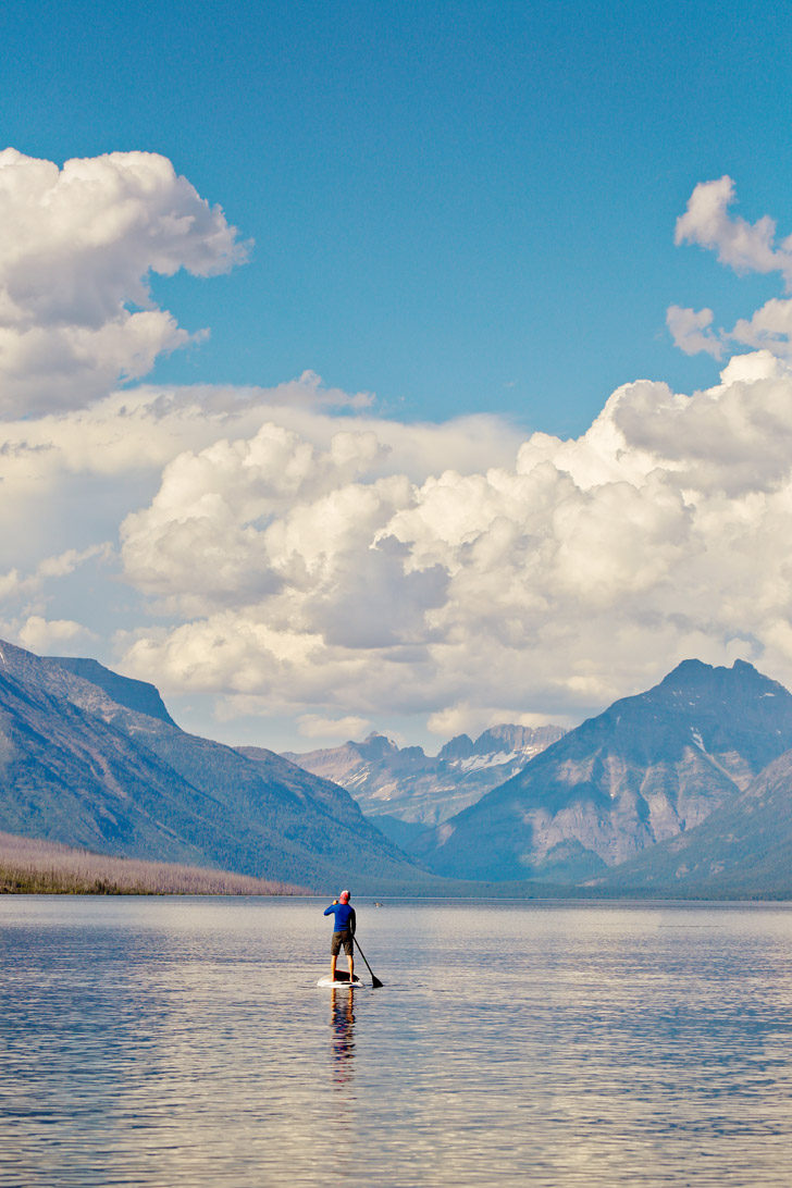SUP Lake McDonald (+ 9 Incredible Things to Do in Glacier National Park Montana) // localadventurer.com
