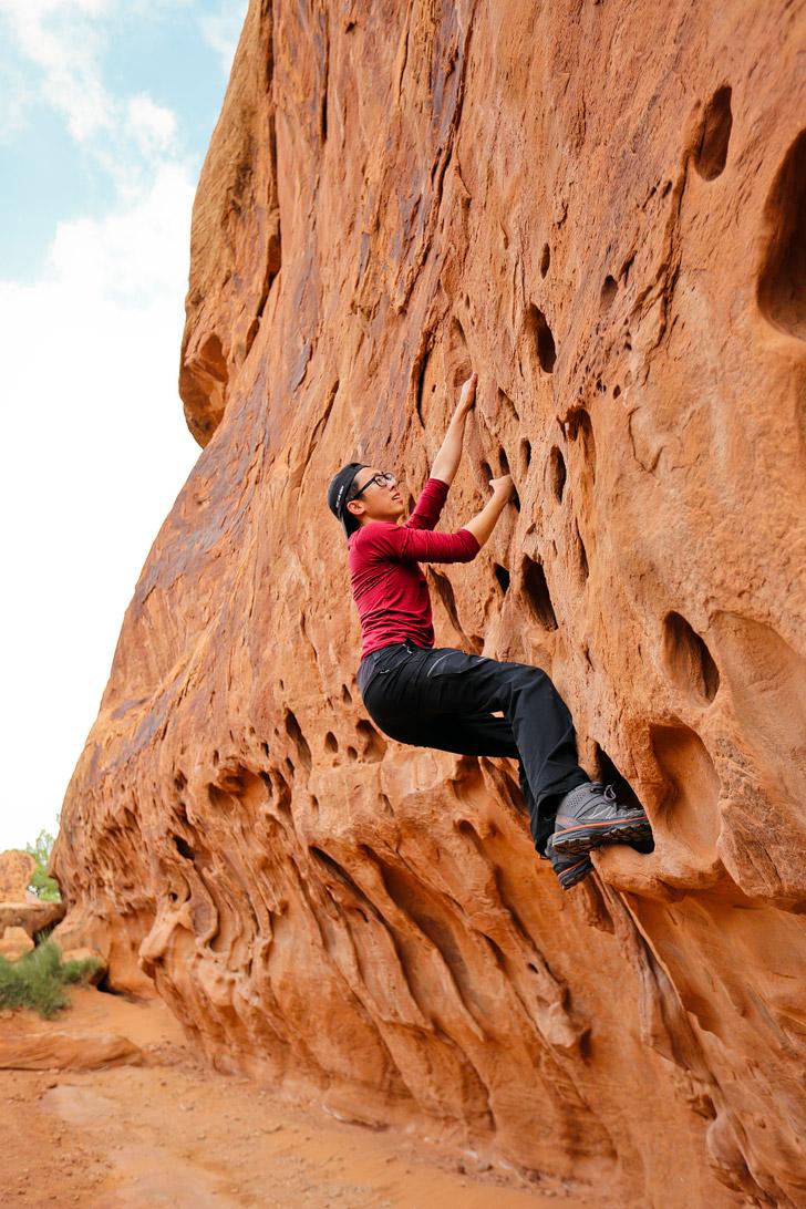 Rock Climbing Arches National Park Utah // localadventurer.com