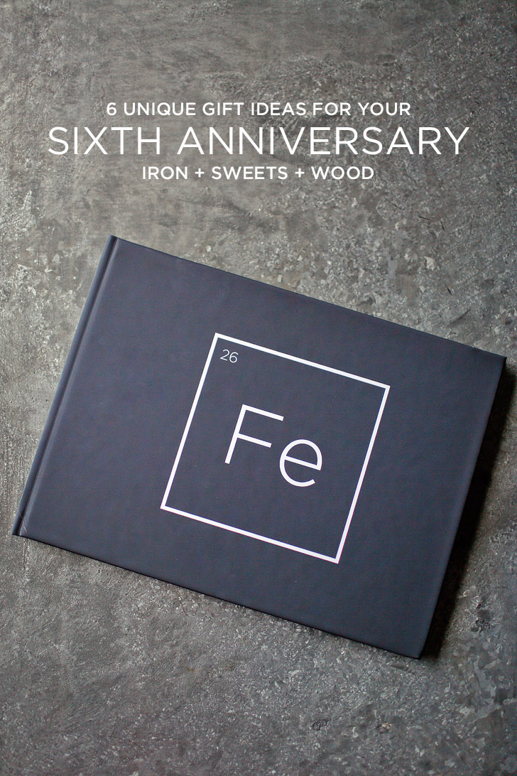 Unique 6th Wedding Anniversary Gifts : Unique Gift Ideas for Your 6 Year AnniversaryIron + Sweets + Wood ...