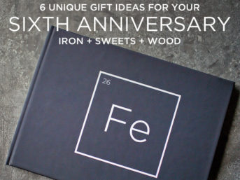 6 Unique Gift Ideas for Your 6 Year Anniversary - Iron + Sweets + Wood // localadventurer.com
