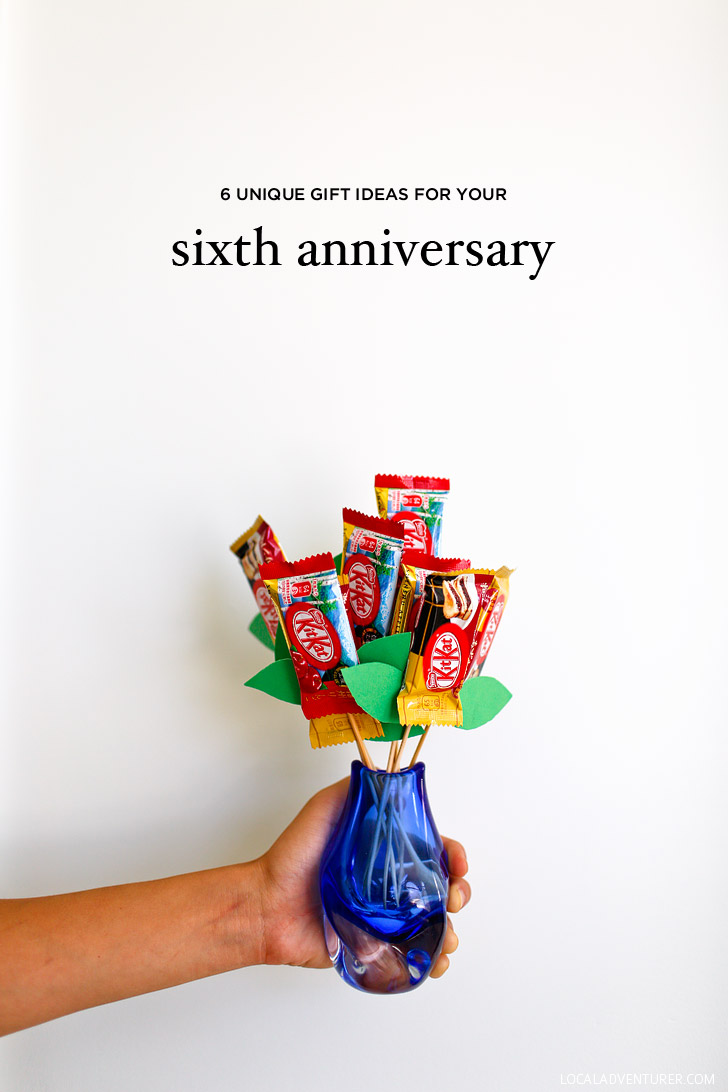 Unique 6th Wedding Anniversary Gifts : Unique 6 Year Anniversary Gift Ideas for Iron, Sweets, and Wood ...