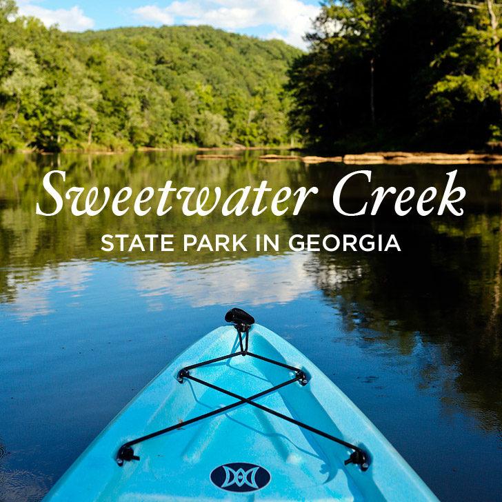 Kayaking through the Set of Mockingjay at Sweetwater Creek State Park - Lithia Springs, Georgia near Atlanta // localadventurer.com