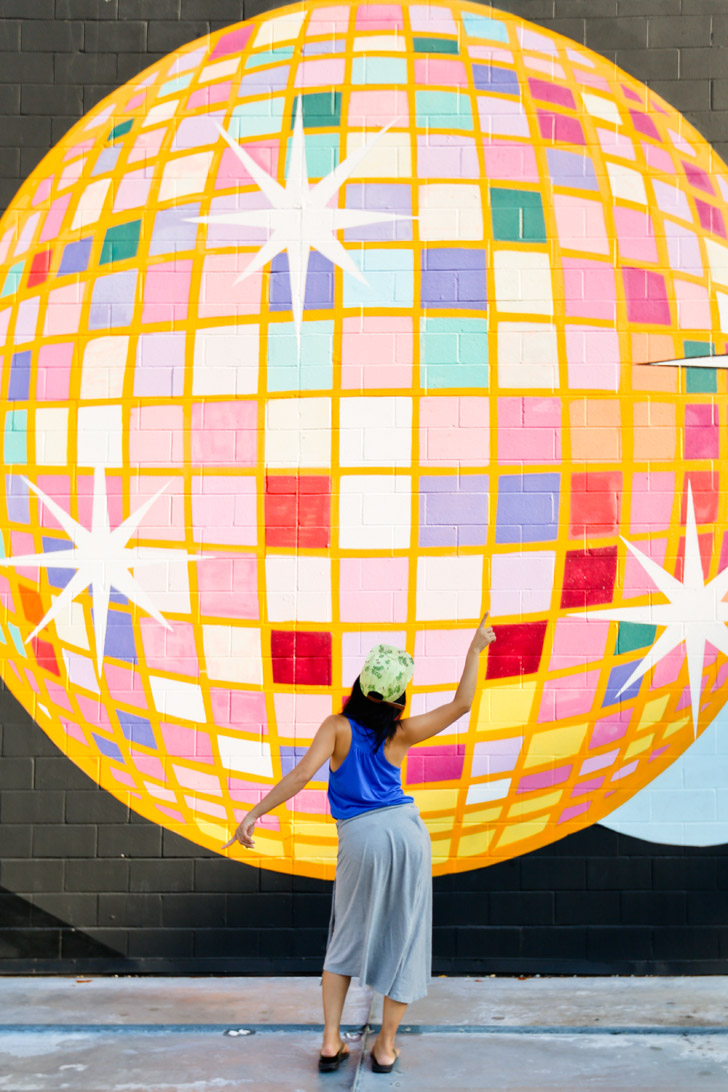 Disco Ball Mural at Disco Kroger (+ Best Instagram Spots in Atlanta) // localadventurer.com