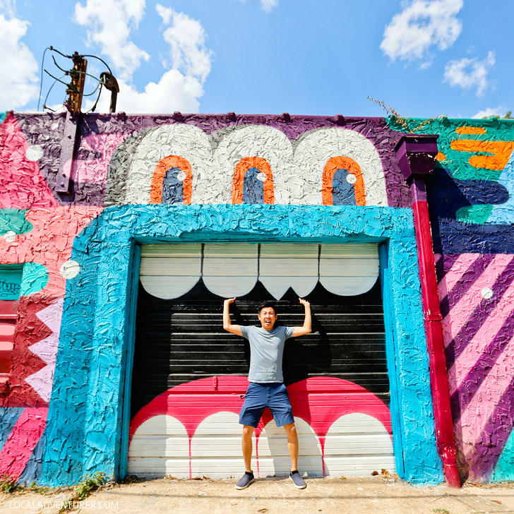 Greg Mike Door Mural (+ Best Places to Take Pictures in Atlanta) // localadventurer.com