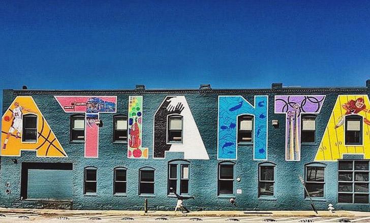 Atlanta Wall (+ Best Instagram Spots in Atlanta) // localadventurer.com
