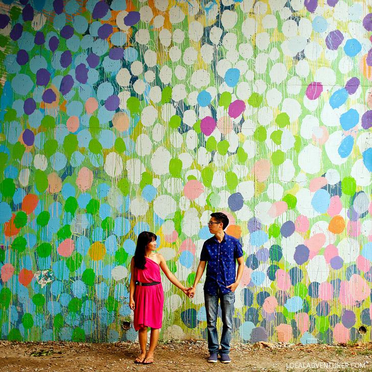 Hense Wall on the Atlanta Beltline (+ Most Popular Instagram Spots in Atlanta) // localadventurer.com