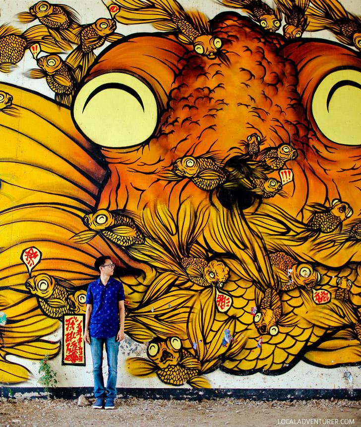 Rising Red Lotus Beltline Fish Mural (+ Best of Atlanta Street Art) // localadventurer.com