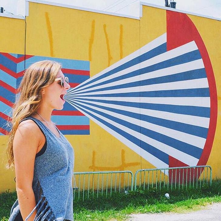 Martina Merlini Mural (+ Most Popular Instagram Spots in Atlanta) // localadventurer.com