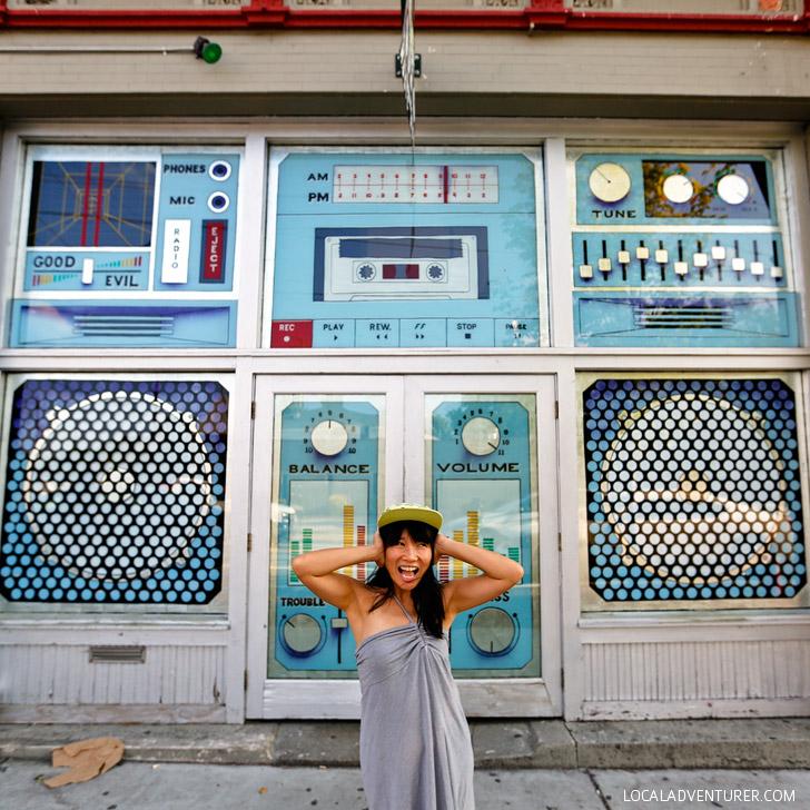 The Music Room Boombox Doors ( + Best Instagram Spots in Atlanta) // localadventurer.com
