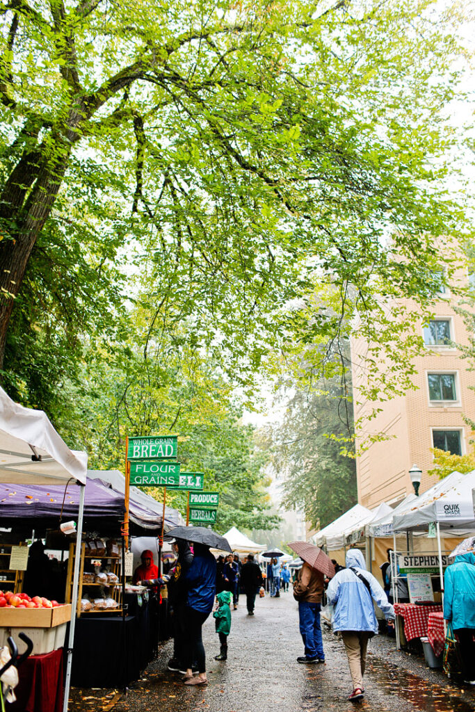 Portland Farmers Market + 25 Free Things to Do in Portland Oregon