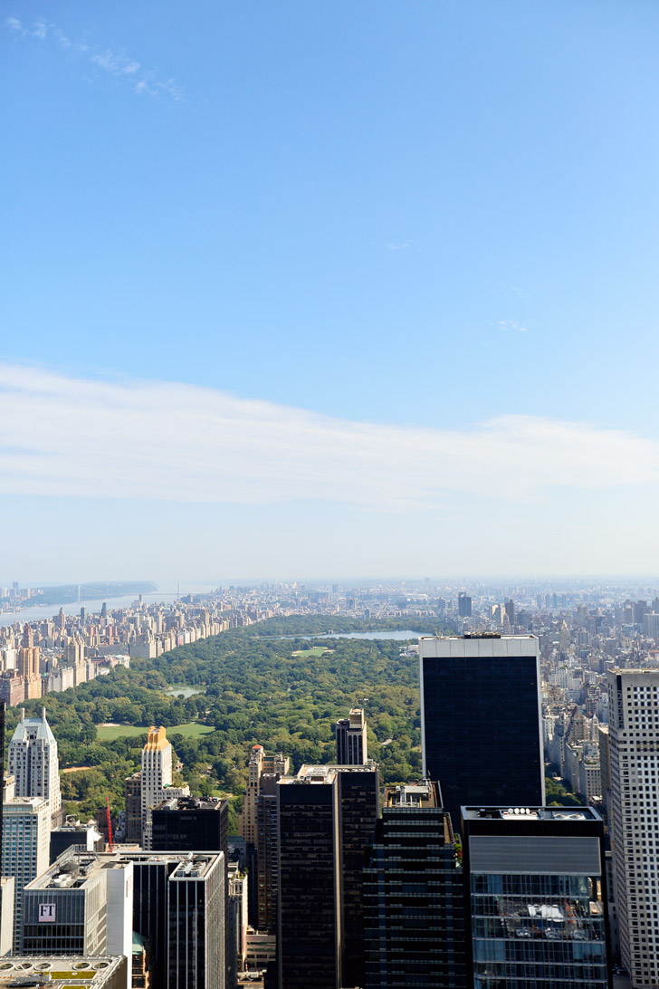 Gorgeous Aerial shot of Central Park from Top of the Rock New York // localadventurer.com