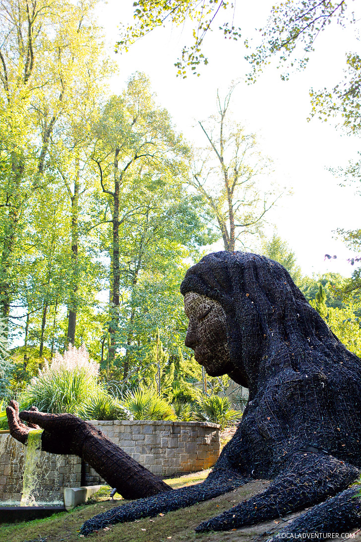 Earth Goddess - Atlanta Botanical Garden Living Sculptures // localadventurer.com
