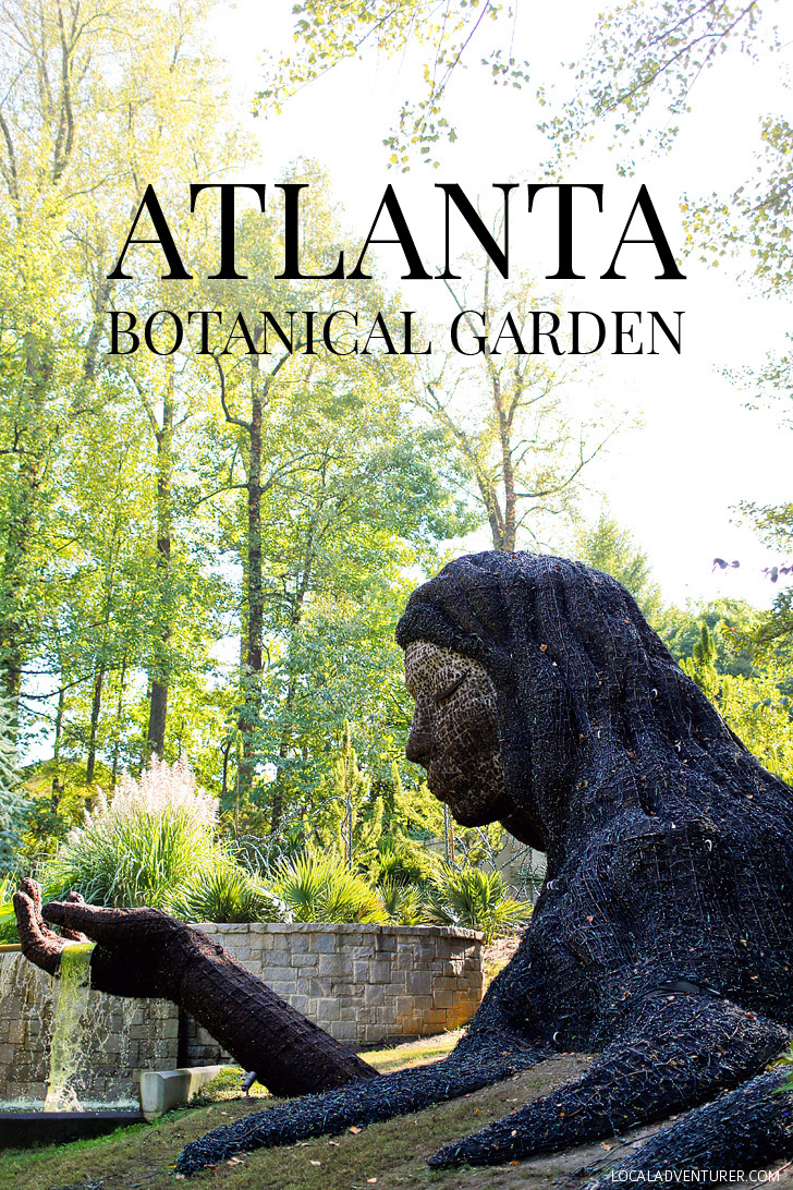This is the Earth Goddess, a living sculpture part of the Atlanta Botanical Garden // localadventurer.com