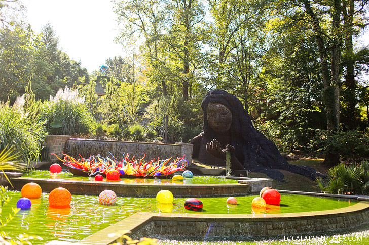 Chihuly in the Garden Exhibit + Earth Goddess Living Sculpture at the Atlanta Botanical Garden // localadventurer.com