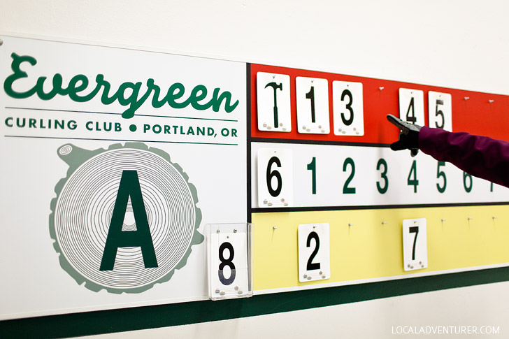 Learning how to curl at Evergreen Curling Club Portland Oregon // localadventurer.com