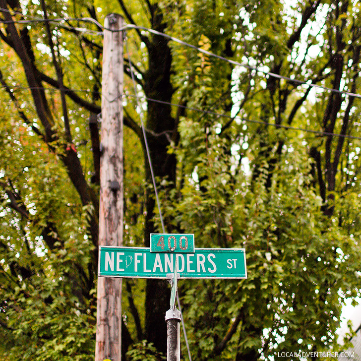 Simpsons Character Streets (+ 25 Free Things to Do in Portland Oregon) // localadventurer.com