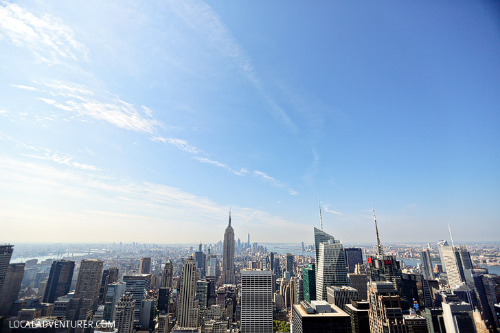View from Top of the Rock Manhattan New York // localadventurer.com