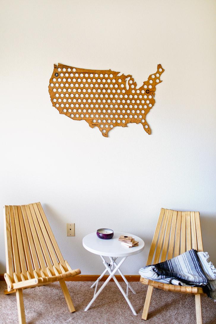 USA Beer Cap Maps (25 Best Gifts for Everyday Adventurers) // localadventurer.com