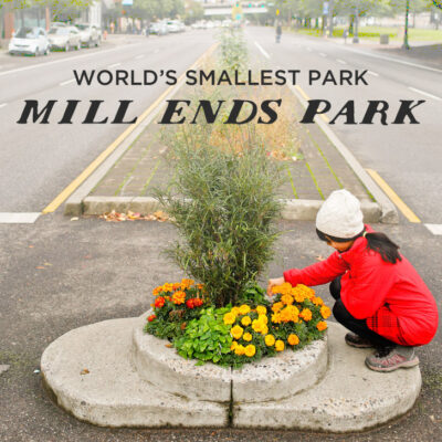 Mill Ends Park - World's Smallest Park // localadventurer.com
