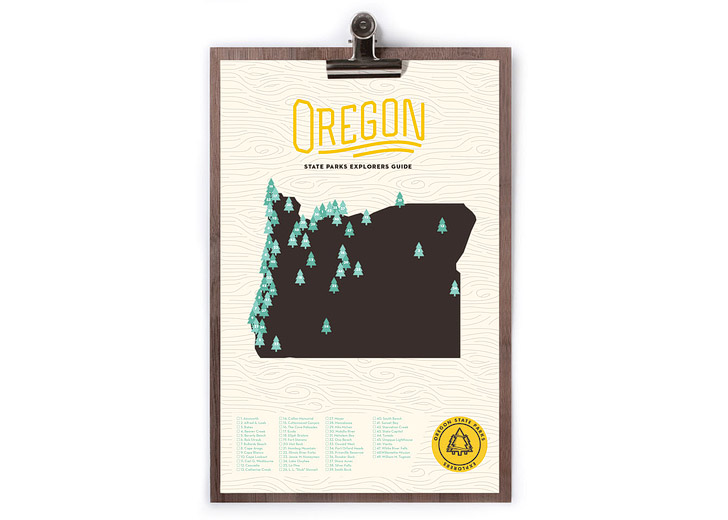 Oregon State Parks Map + Checklist (25 Best Gifts for Adventurers) // localadventurer.com