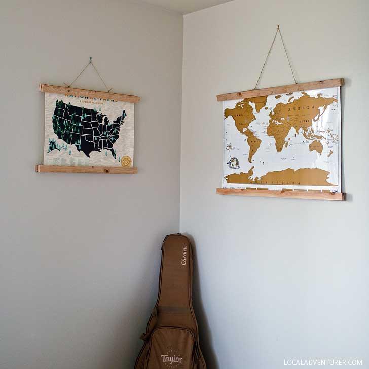 Original Scratch World Map (25 Best Gifts for Globetrotters) // localadventurer.com