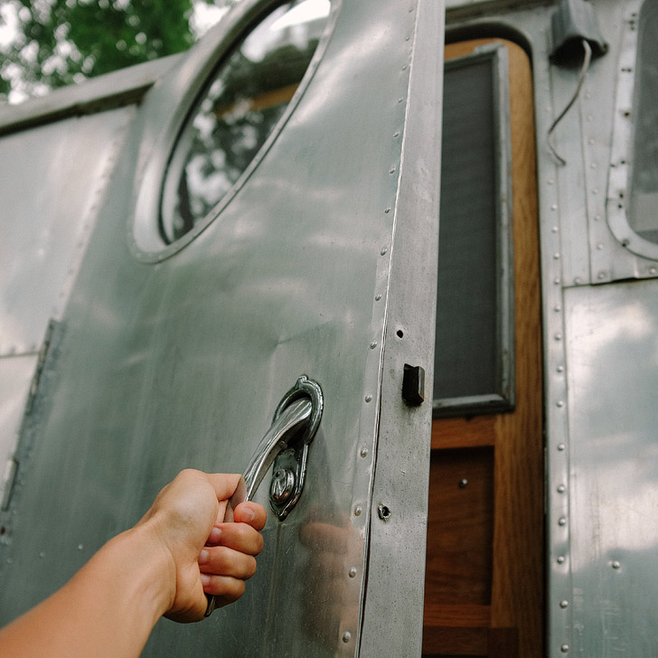 Stay in a vintage trailer at Asheville Glamping (101 Things to Do in Asheville NC) // localadventurer.com