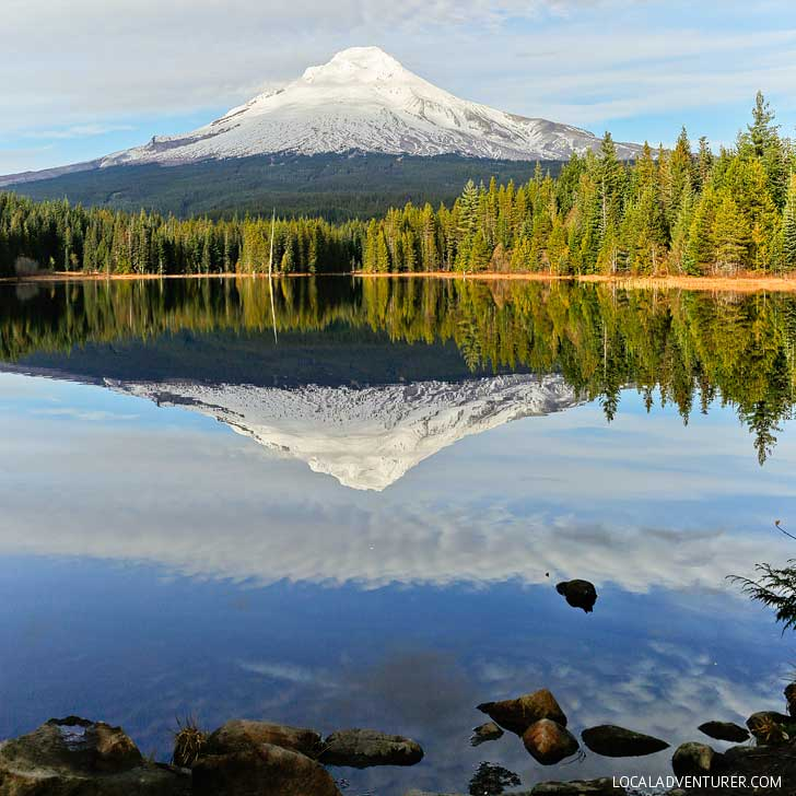 Trillium Lake, Mt Hood National Forest + All the Best Places to Visit in Oregon // localadventurer.com