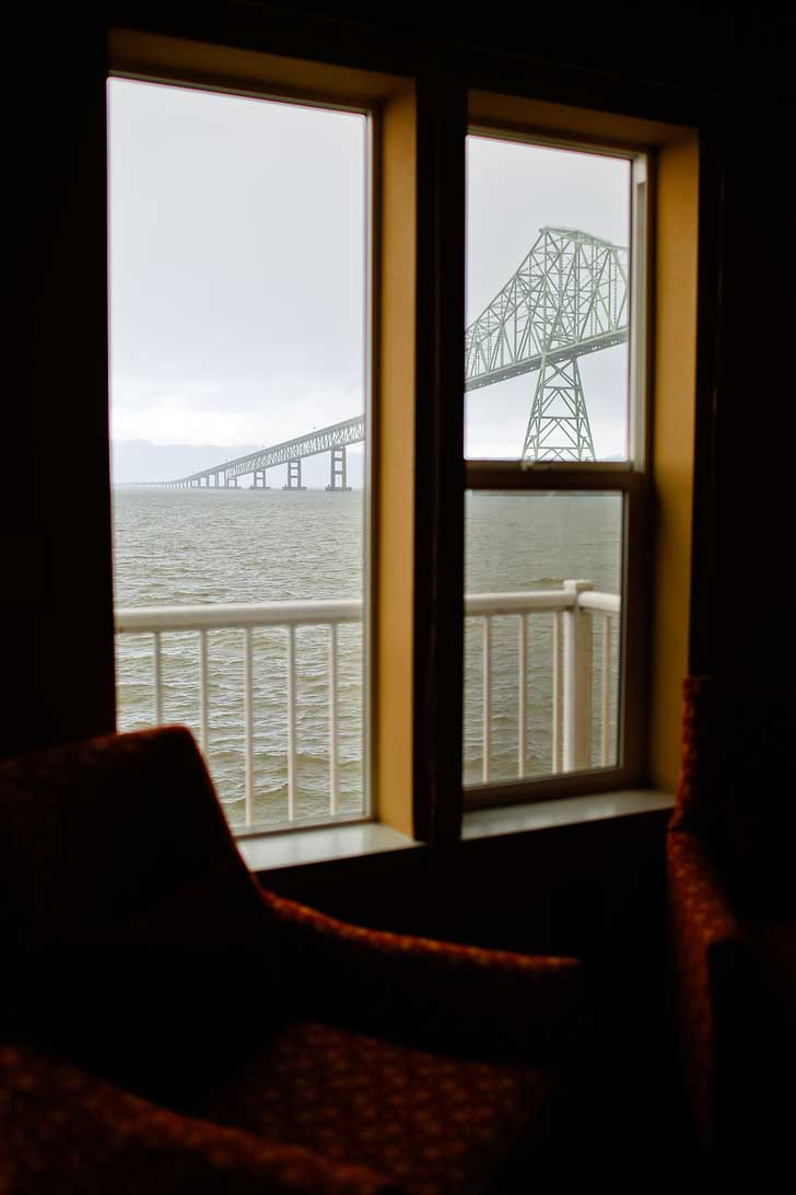 The views of the Astoria Bridge is incredible from the Cannery Pier Hotel // localadventurer.com