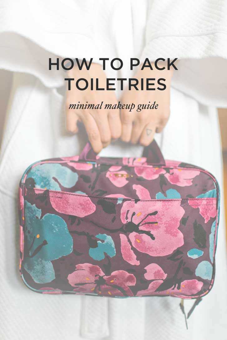 People are always asking how I'm able to travel so light. Yes, pack minimal, but here's a few tricks I use, and the answer on how to pack toiletries! // localadventurer.com